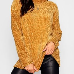 Boohoo Yellow Knit Sweater
